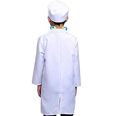 TOPTIE Kids Unisex Lab Coat Uniform, Doctor Role Play Costume: Clothing