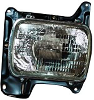 Larson Electronics 1015P9IK5PM 6 inch -Black 1998 Buick Park Avenue Post Mount Spotlight Passenger Side with Install kit 100W Halogen