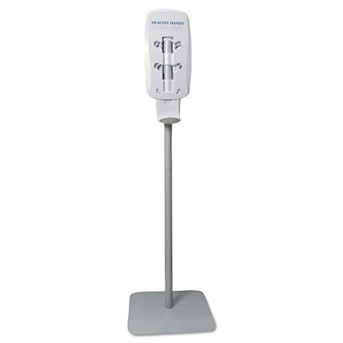 Sanitizing Station Gojo Purell - PURELL 2424DS LTX or TFX Touch-Free Dispenser Floor Stand, Lt Gray, 23 3/4 x 16 3/5 x 5 29/100