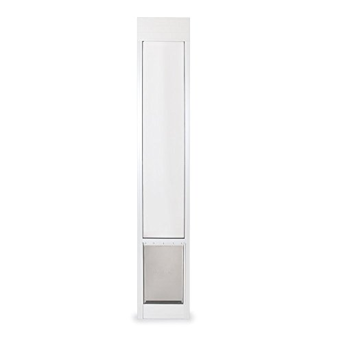 "PetSafe Freedom Aluminum Patio Panel Sliding Glass Dog and Cat Door, Adjustable 76 13/16"" to 81-Inch, White, Large"