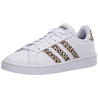 adidas Women's Grand Court Tennis Shoe, White/White/Multi, 7
