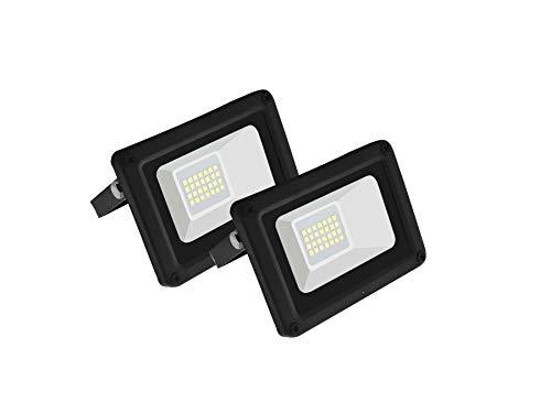 Pegaso - Juego de 2 proyectores LED para exteriores - Grado de Protección IP65 - Luz natural - Temperatura del color 4000K: Amazon.es: Iluminación