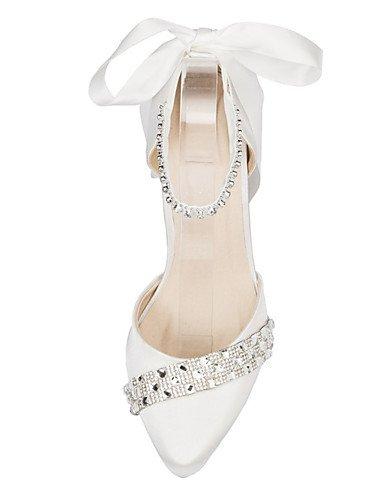 GGX/Damen Schuhe Satin Stiletto Heel Heels Heels Hochzeit/Party & Abend/Kleid Elfenbein/Weiß 3in-3 3/4in-ivory
