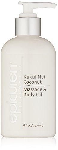 - Epicuren Discovery Kukui Nut Coconut Massage & Body Oil, 8 Fl oz