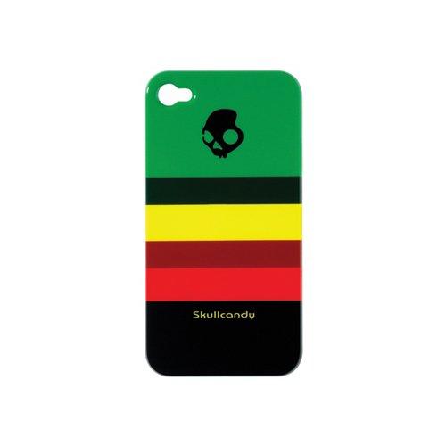 Skullcandy iPhone 4G Stripe Rasta Snap-On Case for iPhone 4 (SCPCDZ-156)