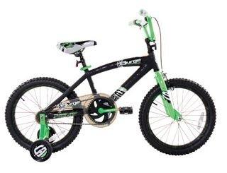 Dynacraft 18 Surge Boys BMX Bike with Training Wheels, Black / Green by Dynacraft B00D5VGH5S
