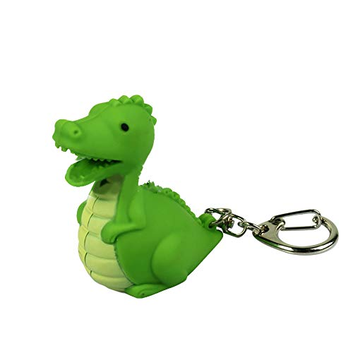 Bluelans Creative LED Light Sound Cute Dinosaur Keychain Pendant Decor Key Ring Ornament Valentine's Day/Mother's Day/Father's Day/Wedding/Anniversary/Party/Graduation/Christmas/Birthday Gifts (Animal Friends Keychain)