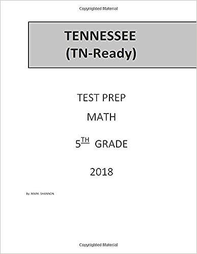 5th Grade TN-Ready Test Prep: 5th Grade Tennessee Comprehensive