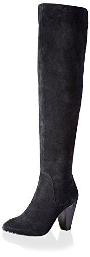 Dune London Kvinners Salley Boot Svart Semsket Skinn