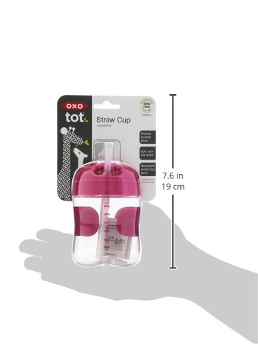 OXO Tot Twist Lid Straw Cup (7 oz.) - Pink by OXO (Image #6)