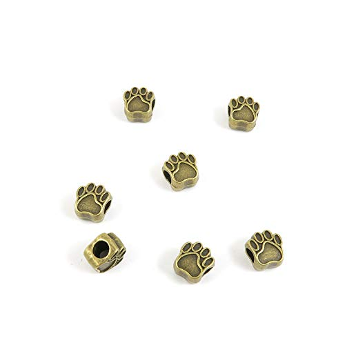 - Price per 30 Pieces Antique Bronze Tone Jewelry Charms Findings Arts Crafts Beading Making Charmes Q9XF8Q Bear Paw Prints Loose Beads