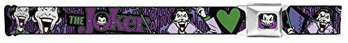 Joker Face/logo/spades Black/green/purple Seatbelt Belt