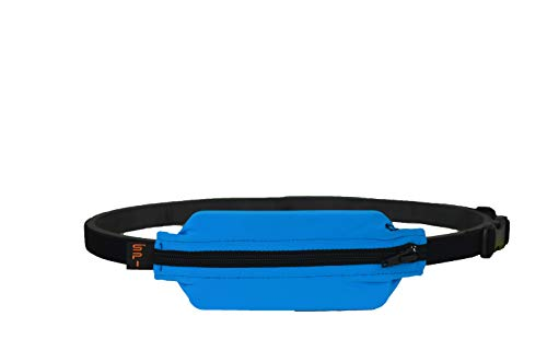 SPIbelt Kids No-Bounce Belt with Hole for Insulin Pump, Medical Devices or Headphones for Active Kids! (Turquoise with Black Zipper)
