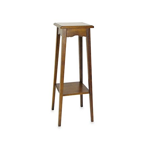Traditional-Style 2-Shelf Wood Pedestal Stand