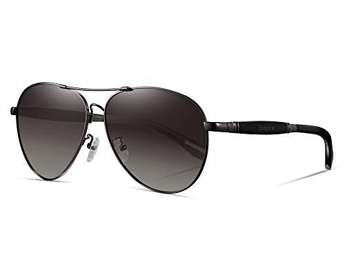 EyeGlow Aviator Brand Designer Sunglasses Men and Women Polarized Lens Memory Titanium Material ()