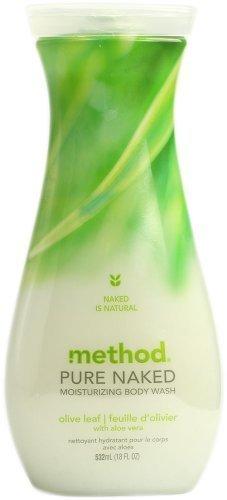 Method Pure Naked Moisturizing Body Wash Olive Leaf 18 oz. (Pack of 6) (Olive Shower)