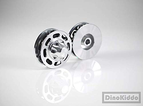 Dino Kiddo - Poleas de Aluminio para Bicicleta Plegable Brompton, Color Plateado: Amazon.es: Deportes y aire libre