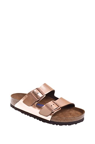 Birkenstock Unisex Arizona Metallic Copper Leather Sandals - 9-9.5 B(M) US Women/7-7.5 D(M) US Men