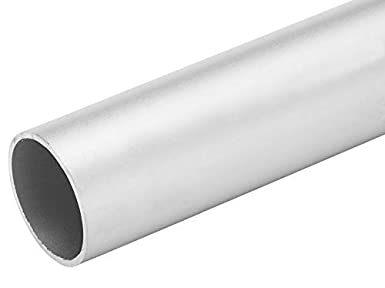 4 FT 5//8 Diameter x .050 Wall Aluminum Tubing 6063 Alloy T-6 Temper Clear Anodized