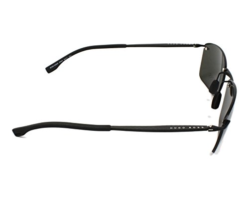 Hombre para Boss S Boss Sol 2P6 Black 0939 Rubber Hugo Negro IR Gafas Grey 60 de Grey zvqxwxA