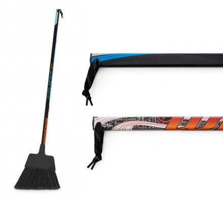 Requip'd Hockey Stick Broom- Made from Hockey Sticks - 53 in x 11 in x 3 in - by Requipd Formerly Known as Hat Trick BBQ - Great Gift for Hockey Fans and Hockey Players