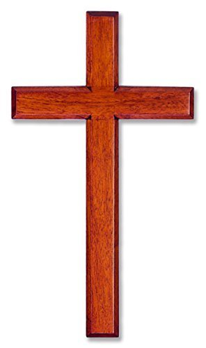 Wall Cross Solid Mahogany Wooden Carved in White Box 6