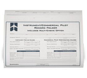 Jeppesen Instrument/Commercial Student Record Folder (Single Record)