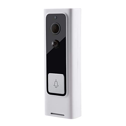 ❤️Jonerytime❤️Wireless Smart Doorbell Phone Intercom Ring Doorbell Visual PIR IR Night Vision White ()