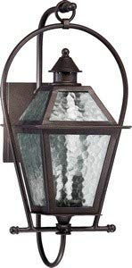 French Quarter Two Light Outdoor Wall Lantern in Oiled Bronze