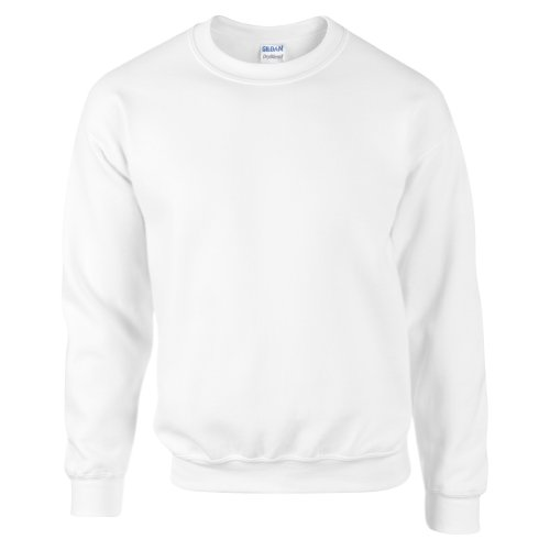 Gildan DryBlend Adult Set-In Crew Neck Sweatshirt (13 Colours) (S) (White)