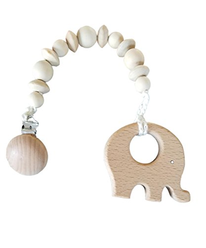 Natural wooden baby teether toys 4pk forest animal set, Fine motor Development and Sensory Skills Toy, Perfect shower Gift- unfinished wood