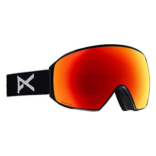 Burton Anon M4 Toric Black Goggle - anteojos para hombre (lentes rojas solares, por Zeiss, y MFI)