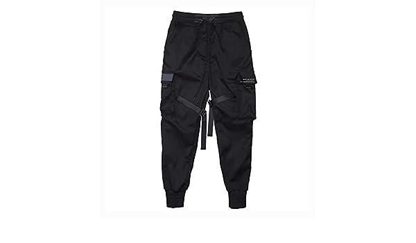 Grizack Pantalones Cargo Hombre Cintas Harem Joggers Pantalones ...