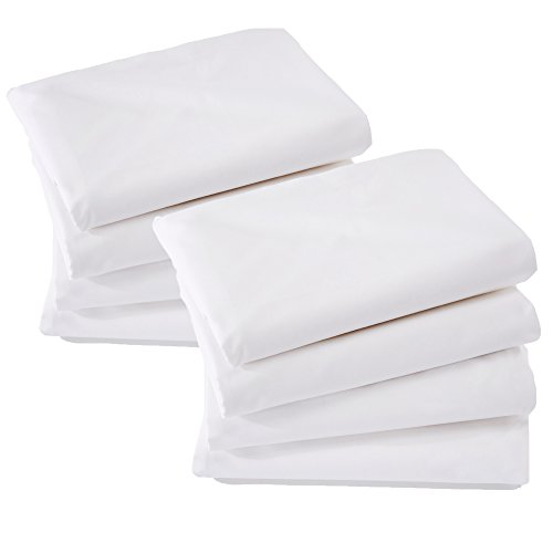 Home Fashion Designs 8 Pack Premium Pillow Protectors | 100% Cotton | Allergy Control | Bed Bug & Dust Mite Proof | Breathable Encasement | Standard Size Zippered Pillow Covers