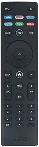 AIDITIYMI XRT140 New IR Remote for Vizio 4K HDR Smart TV OLED55-H1 OLED65-H1 Remote