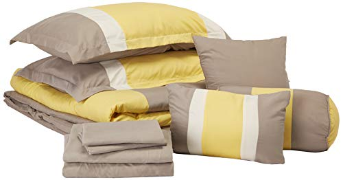 Chic Home Serenity 10 Piece Comforter Complete Bag Stripe Pattern Bedding with...