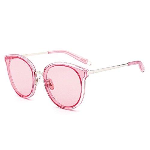 Sol Polvo De De Sol Gafas De Sol Simples Gafas Gafas Verde Y Cara Redonda Gran KLXEB Gafas Ornamentales Redondas wUXqCA