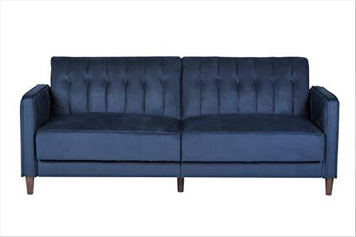 US Pride Furniture Grattan Luxury Sofa Bed Dark Blue (Blue Bed Sofa)
