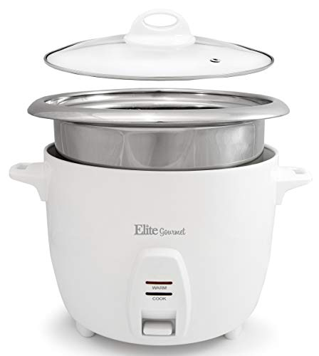 Elite Gourmet ERC-2010 Electric Rice Cooker with Stainless Steel Inner