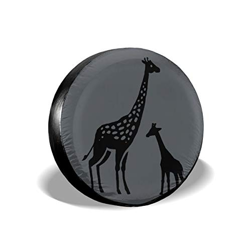 (Pokuisnb Waterproof Giraffe Letter Spare Tire Covers for All Cars 14 Inch)