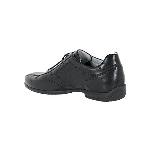 Nero Giardini Scarpe Uomo Sneaker Basse in Pelle Stringate Nero P800140U100