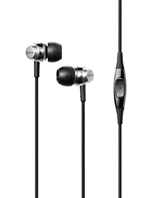Denon Studio Quality In-Ear Headphones with 1-Button Smartphone Remote Silver