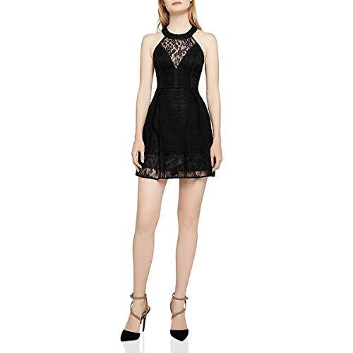 lace paneled bodycon dress - 5