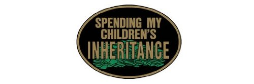 Knock Out Decals 599.5H 'Spending My Children's Inheritance' Hitch Cover PRRXE