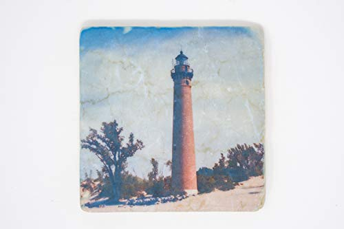 Sable Michigan Lighthouse - Tumbled Stone Tile, Little Sable Michigan Lighthouse Design