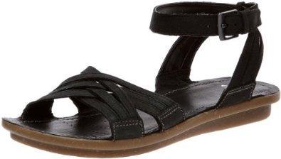 b3e3395e14c496 clarks ladies powder mist black leather sandals uk size 3.5