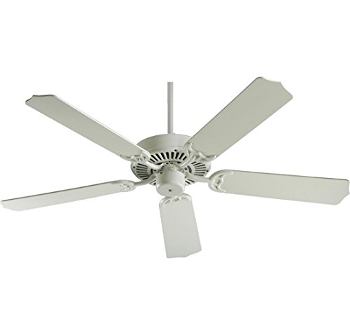 Holder Fan Ceiling Blade (Quorum International 77525-67 Capri I 52-Inch Ceiling Fan, Antique White Finish with Antique White Blades)