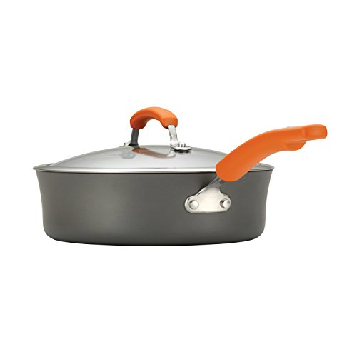 Rachael Ray Hard Anodized II Nonstick Dishwasher Safe 10-Piece Cookware Set, Orange by Rachael Ray (Image #5)