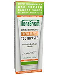 TheraBreath Fresh Breath Toothpaste 4 oz (Pack of 6)