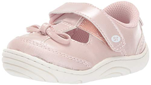Stride Rite Baby Girl's Caroline Bow T-Strap Sneaker, Light Pink, 3.5 M US Infant
